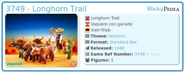 Playmobil 3749 - Longhorn Trail