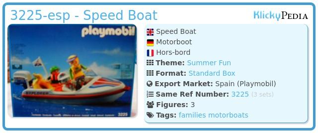 Playmobil 3225-esp - Speed Boat