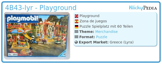 Playmobil 4B43-lyr - Playground
