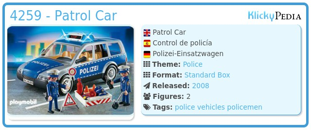 Playmobil 4259 - Patrol Car