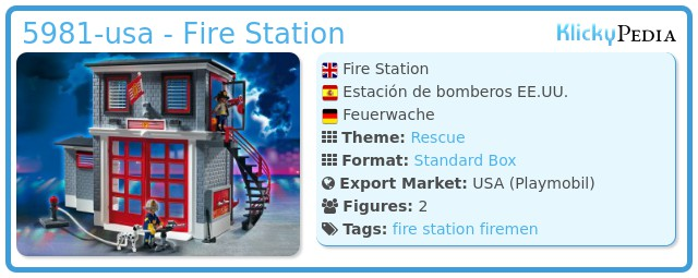 Playmobil 5981-usa - Fire Station