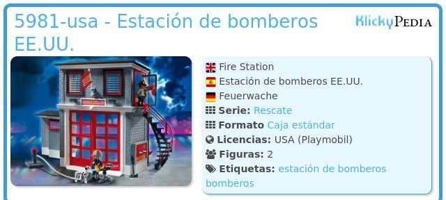 Playmobil 5981-usa - Estación de bomberos EE.UU.