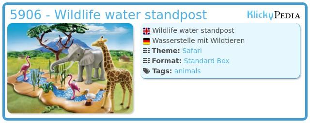 Playmobil 5906 - Wildlife water standpost