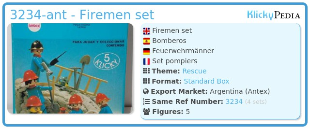 Playmobil 3234-ant - Firemen set