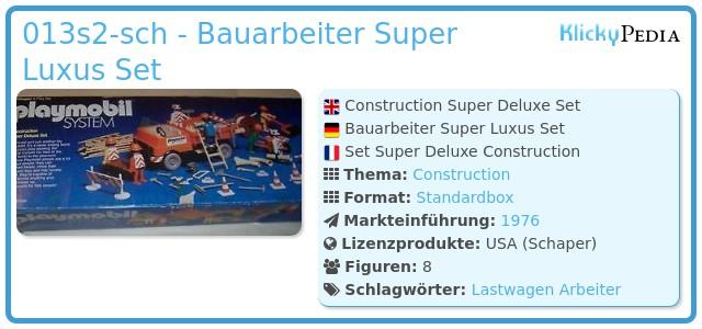 Playmobil 013s2-ken-sch - Bauarbeiter Super Luxus Set