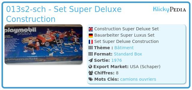 Playmobil 013s2-ken-sch - Set Super Deluxe Construction