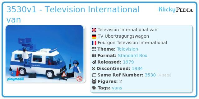 Playmobil 3530v1 - Television International van