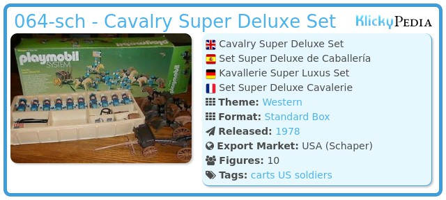 Playmobil 064-sch - Cavalry Super Deluxe Set