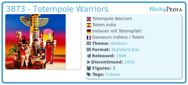 Playmobil 3873 - Totempole Warriors
