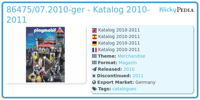 Playmobil 86475/07.2010-ger - Katalog 2010-2011