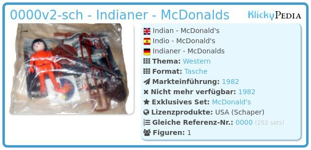 Playmobil 0000v2-sch - Indianer - McDonalds