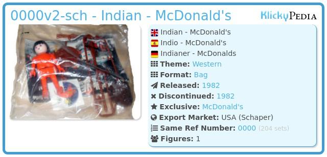 Playmobil 0000v2-sch - Indian - McDonald's