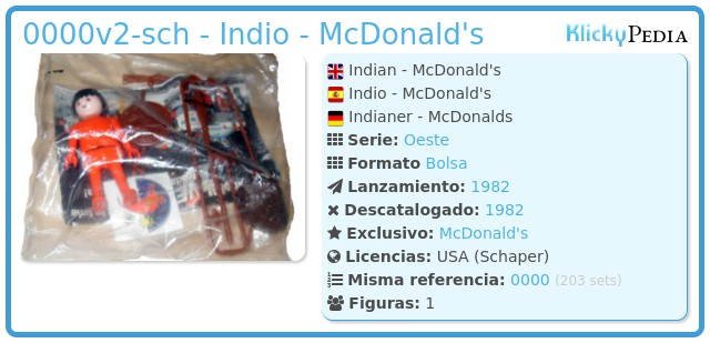 Playmobil 0000v2-sch - Indio - McDonald's