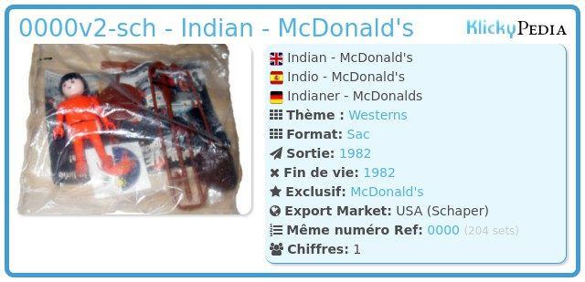 Playmobil 0000v2-sch - Indian - McDonald's