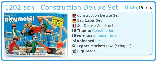 Playmobil 1202-sch - Construction Deluxe Set