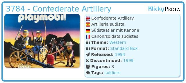 Playmobil 3784 - Confederate Artillery