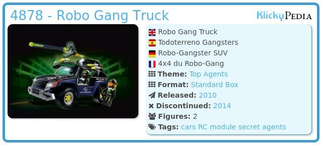 Playmobil 4878 - Robo Gang Truck