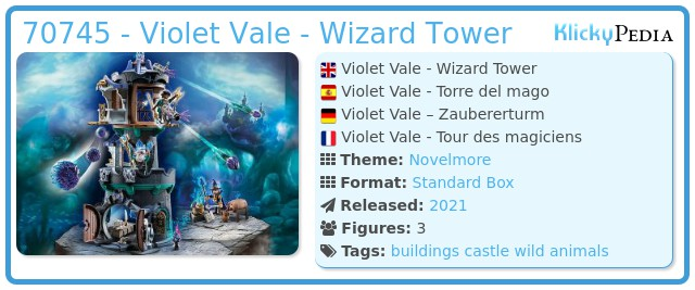 Playmobil 70745 - Violet Vale - Wizard Tower
