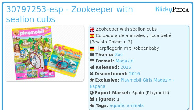Playmobil 30797253-esp - Zookeeper with sealion cubs