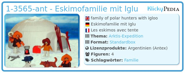 Playmobil 1-3565-ant - Eskimofamilie mit Iglu