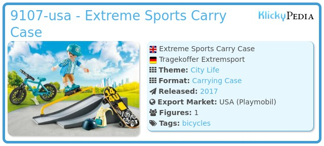 Playmobil 9107-usa - Extreme Sports Carry Case
