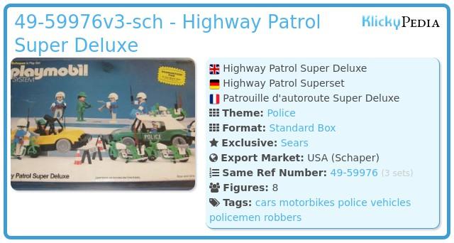 Playmobil 49-59976v1-sch - Highway Patrol Super Deluxe