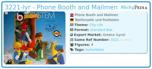 Playmobil 3221-lyr - Phone Booth and Mailmen