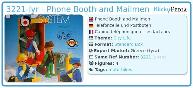 Playmobil 3221-lyr - Phone Booth and Mailmen