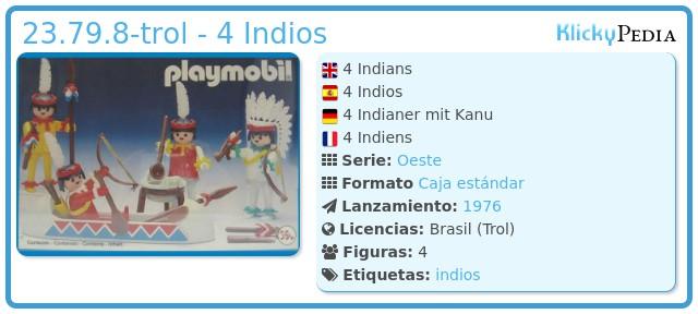 Playmobil 23.79.8-trol - 4 Indios