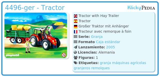 Playmobil 4496-ger - Tractor