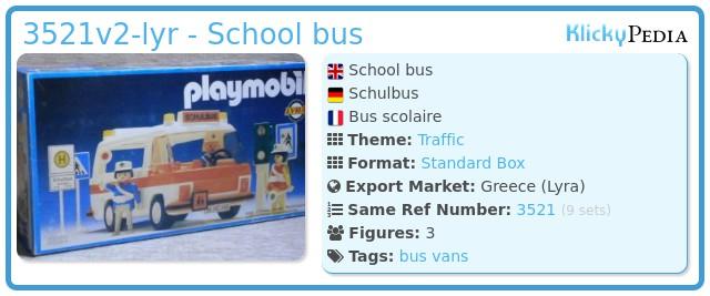 Playmobil 3521v3-lyr - School bus