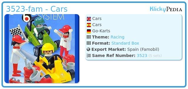 Playmobil 3523-fam - Cars