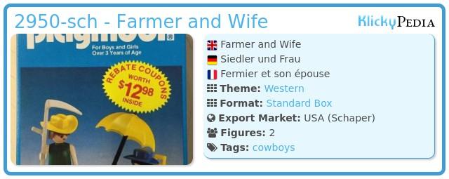 Playmobil 2950-sch - Farmer and Wife