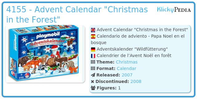 Playmobil 4155 - Advent Calendar
