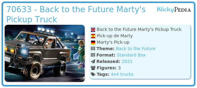 Playmobil 70633 - Marty's Pick-up