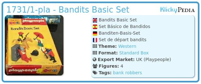 Playmobil 1731/1-pla - Bandits Basic Set