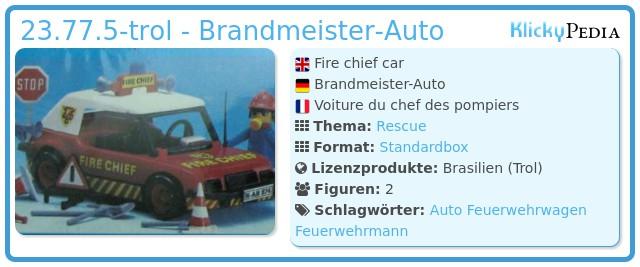 Playmobil 23.77.5-trol - Fire chief car