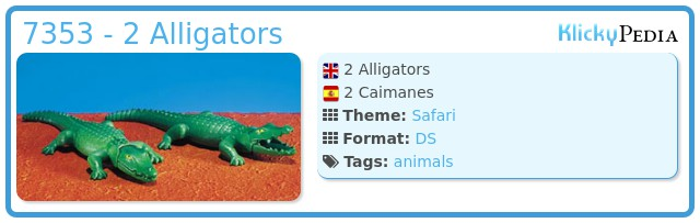 Playmobil 7353 - 2 Alligators