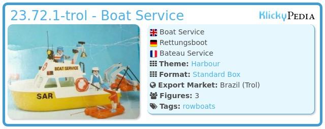 Playmobil 23.72.1-trol - Boat Service