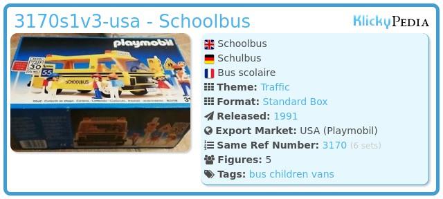 Playmobil 3170s1v2-usa - Schoolbus