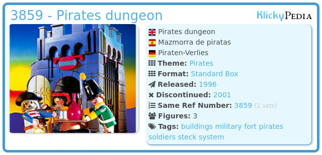 Playmobil 3859 - Pirates dungeon
