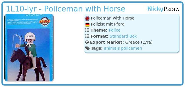 Playmobil 1L10-lyr - Policeman with Horse