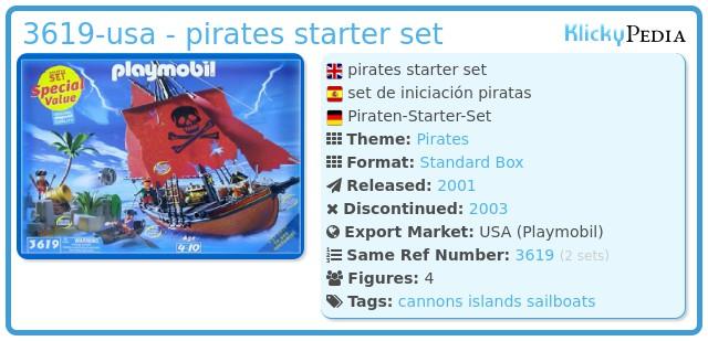 Playmobil 3619-usa - pirates starter set