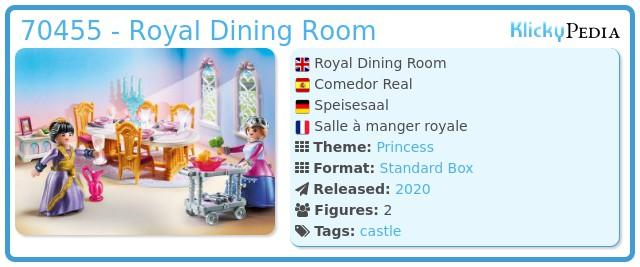 Playmobil 70455 - Royal Dining Room