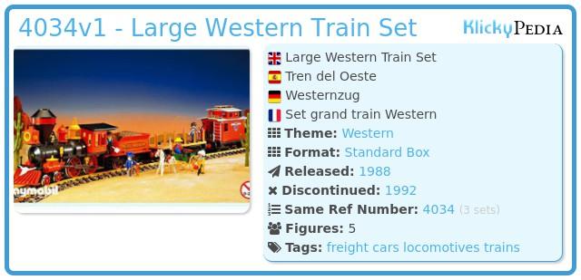 Playmobil 4034v1 - Large Western Train Set