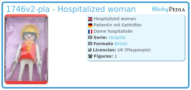 Playmobil 1746v2-pla - Hospitalized woman