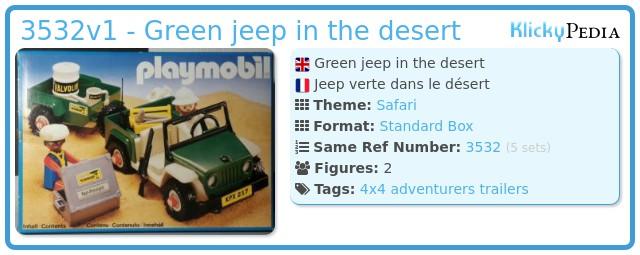 Playmobil 3532v1 - Green jeep in the desert