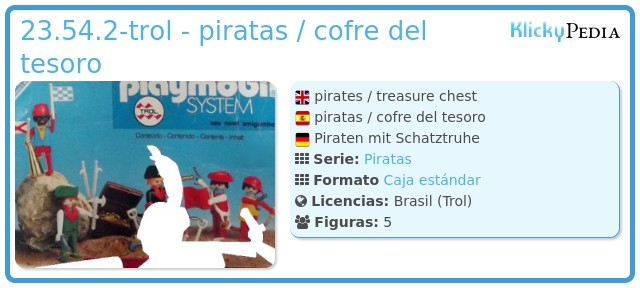 Playmobil 23.54.2-trol - piratas / cofre del tesoro