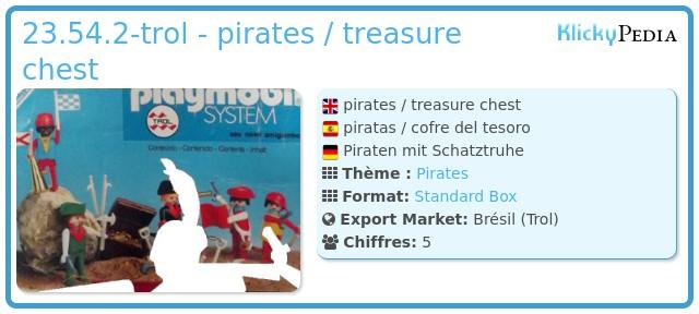 Playmobil 23.54.2-trol - pirates / treasure chest