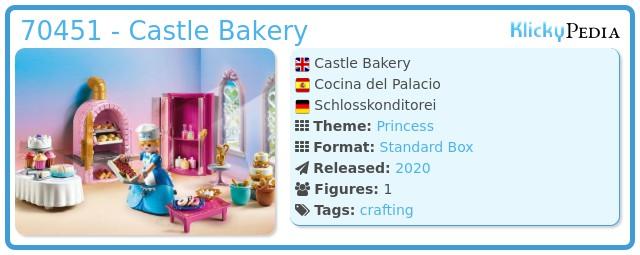 Playmobil 70451 - Castle Bakery